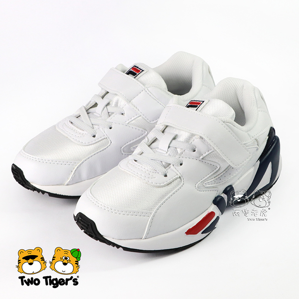 FILA MIND BLOWER KD 紅藍白 韓系復古運動鞋 中大童 NO.R4166