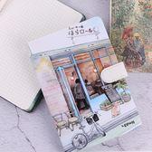 32K手繪小清新彩頁插畫手賬本韓國創意簡約復古日記本磁扣筆記本 卡米優品