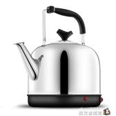 電水壺電熱水壺家用不銹鋼大容量自動斷電保溫電燒水熱茶水壺鳴笛 魔方數碼館
