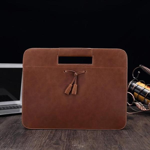 公文包手提包大容量簡約斜掛單肩包男商務多功能瘋馬皮文件包