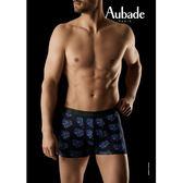 Aubade man-壞男人M-XL舒棉平口褲(煙火愛心)
