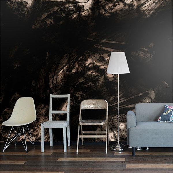 【日本製壁紙】[WALLTZ] IKI Design Firm 【訂貨單位377cm×283.2cm/套(一套八張壁板)】摩登 Paint It, Black
