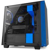 NZXT 恩傑 H400 電腦機殼 黑藍 產品編號:CA-H400B-BL