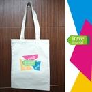Travel Journal - 彩色拼塊-環保棉麻肩背袋 / 環保手提袋 / 旅行肩背帶、文創小物 -【Fruit Shop】