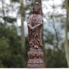 [協貿國際]越南天然沉香木木雕觀音擺件實...
