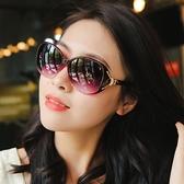 太陽鏡 墨鏡新款偏光太陽鏡圓臉女士墨鏡女潮防紫外線gm眼鏡正韓大臉ins