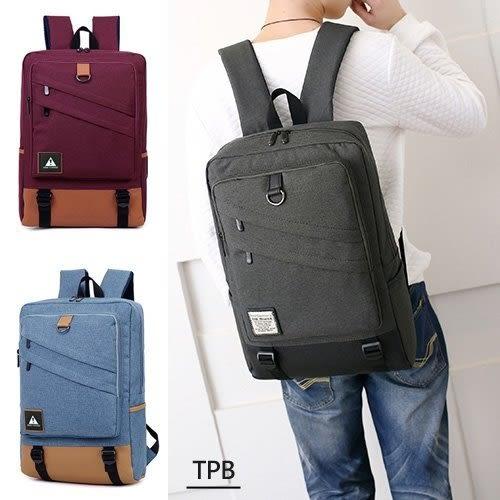 [ 潮流堂 ] 18327率性大容量雙拉鍊平板筆電後背包可支援USB 充電孔(15.6吋筆電可入)