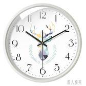 北歐掛鐘 客廳鐘表現代簡約大氣 個性創意時尚超靜音臥室時鐘家用TT884『麗人雅苑』