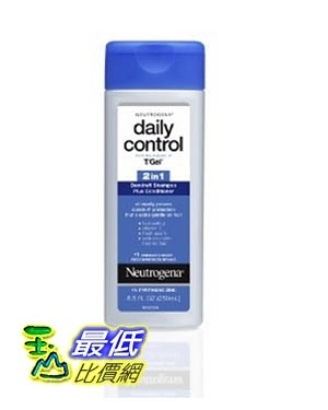 [美國直購] Neutrogena T/Gel 洗髮精潤髮乳2合1 Daily Control 2-in-1 Dandruff Shampoo Plus Conditioner, 8.5 Fluid Ounce
