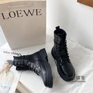 馬丁靴 瘦瘦靴ins潮馬丁靴女新款秋鞋百搭秋冬加絨英倫風短靴子黑 限時優惠
