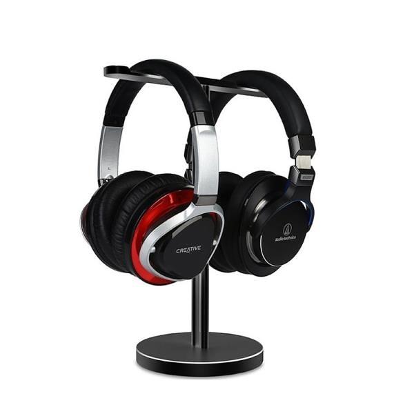 金屬立體式耳機掛架網咖桌面麥克風收納架子Beats索尼HIFI耳機架