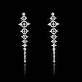 耳環 925純銀 鑲鑽-百搭流蘇生日情人節禮物女飾品73hz71[時尚巴黎]