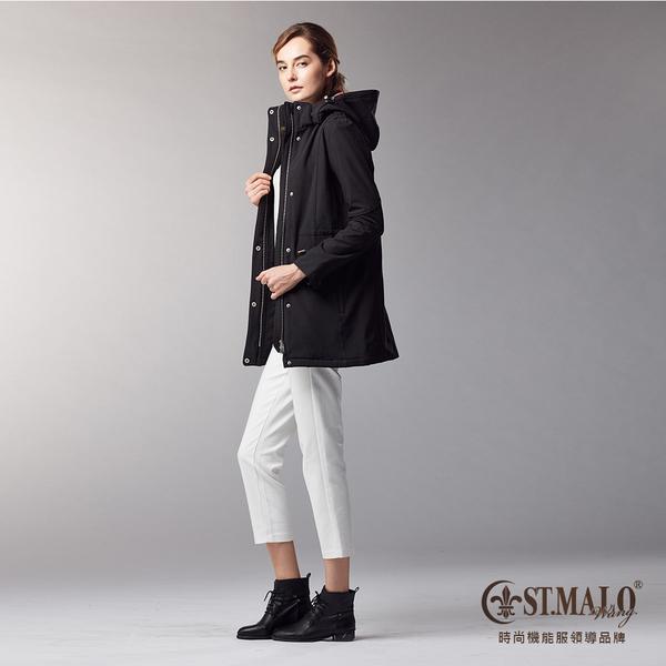 【ST.MALO】跨界機能女防寒外套-1720WJ-晶鑽黑/ 珊瑚桃