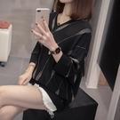 V領 套頭 針織衫 中大尺碼XL-4XL新款針織七分袖上衣 R66-6468.胖丫