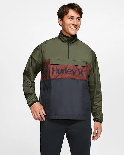 Hurley  M SIEGE ANORACK JACKET CARGO KHAKI  夾克-綠(男)