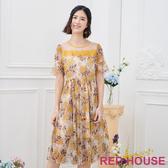 【RED HOUSE 蕾赫斯】花朵透敷洋裝