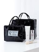 網紅化妝包ins風超火女簡約小號便攜化妝品袋收納盒手提箱大容量『蜜桃時尚』