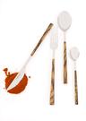 義大利Pintinox 個人四件餐具組-主餐刀+叉+匙+咖啡匙(仿非洲崖豆木深咖褐)
