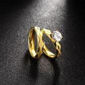 鈦鋼戒指 鑲鑽-經典雙層時尚套戒生日情人節禮物男女飾品73le217【時尚巴黎】