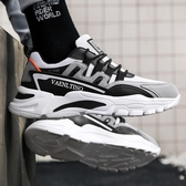 2020新款男鞋透氣帆布鞋百搭運動小白鞋增高韓版潮流老爹跑步板鞋