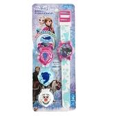 小禮堂 迪士尼 冰雪奇緣 可換蓋兒童手錶 (藍色款) 4971413-01766