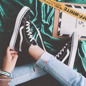 高筒鞋—高筒帆布鞋男春夏季新款學生板鞋韓版原宿百搭ulzzang港風街拍鞋 korea時尚記