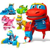 幫幫龍出動玩具變形4歲款全套霸王棒棒龍韋斯恐龍探險隊玩具男孩