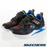 SKECHERS ERUPTERS I 黑藍 閃電造型 燈鞋 Z字型魔鬼氈 中大童 NO.R4186