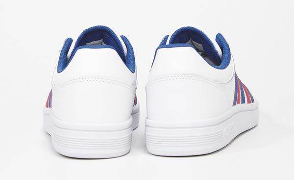 【超取】K-SWISS Court Chesterfield時尚運動鞋-女-白/藍/桃紅
