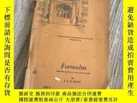 二手書博民逛書店Formulas罕見preparedY153839