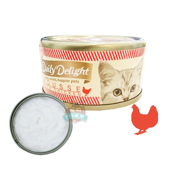 寵物FUN城市│Daily Delight 爵士貓吧 美味肉泥貓罐《雞肉肉泥80g》幕斯貓罐