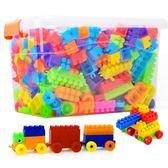 兒童塑料寶寶積木1-2幼兒園7-8-10益智模型拼裝拼插男孩3-6歲玩具 卡布奇诺igo