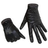 皮手套 機車手套 冬季手套PU仿皮冬季保暖男女款電動車保暖手套《印象精品》yx828