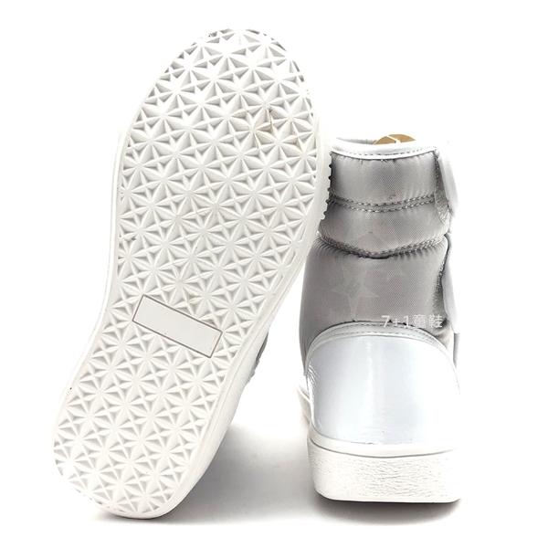 《7+1童鞋》中大童 星星款防水 魔鬼氈  運動短靴  A750  白色