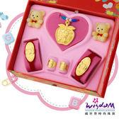 999.9黃金彌月音樂禮盒 平安幸福五件組0.5錢-GP00008-18-GXX