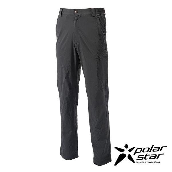 PolarStar 男 四向彈性抗UV長褲『暗灰』 西裝褲│休閒褲│吸濕排汗│直筒褲 P16327