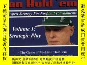 二手書博民逛書店Harrington罕見On Hold em Expert Strategy For No Limit Tour