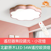 HONEYCOMB LED 54W花朵風遙控無段調光吸頂燈TA9924 粉色