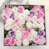 送女朋友情人節禮物玫瑰香皂花束禮盒女生閨蜜生日畢業禮品肥皂花igo『潮流世家』