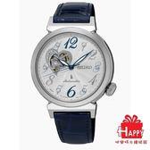 SEIKO精工LUKIA林依晨代言*時尚簍空機械腕錶 4R38-01C0B(SSA843J1) - 深藍X銀
