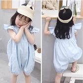 兒童連身褲 夏季韓版女童吊帶休閒連身衣