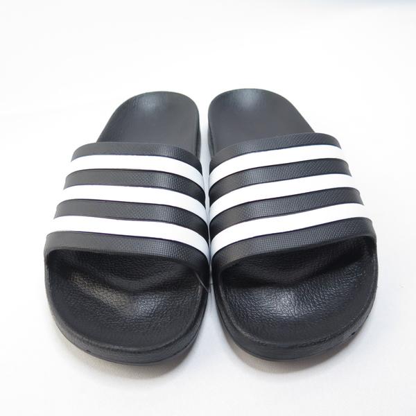 ADIDAS ADILETTE AQUA 男女款 拖鞋 防水 F35543 黑白【iSport愛運動】