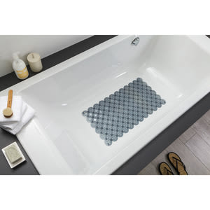 西班牙 TATAY 浴室止滑踏墊 圓紋 72x36cm 藍 型號5512500