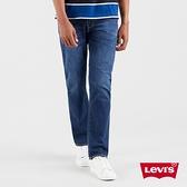 Levis 男款 514低腰合身直筒牛仔褲 / 深藍刷白 / 彈性布料
