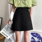 高腰包臀短裙春秋2020年新款小個子半身裙黑色裙子夏季A字裙女裝 范思蓮恩
