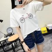 棉t恤日繫短袖女T恤小清新寬鬆棉打底衫森女繫夏裝學生卡通上衣
