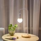 桌燈北歐網紅檯燈創意簡約現代臥室溫馨書桌護眼燈床頭燈 「中秋節特惠」