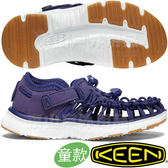 KEEN 1020582深藍 Uneek O2 青少年戶外編織涼鞋 兒童運動鞋/水陸兩用溯溪鞋/沙灘鞋護趾拖鞋