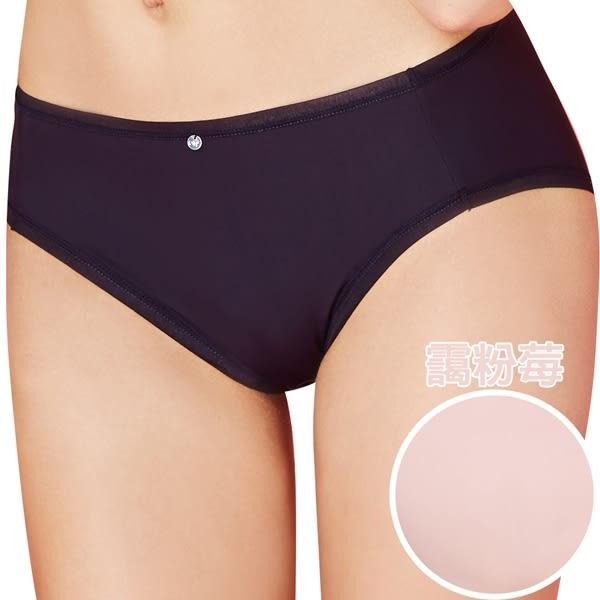 思薇爾-嗨Q Bra系列M-XXL素面中腰三角褲(靄粉莓)