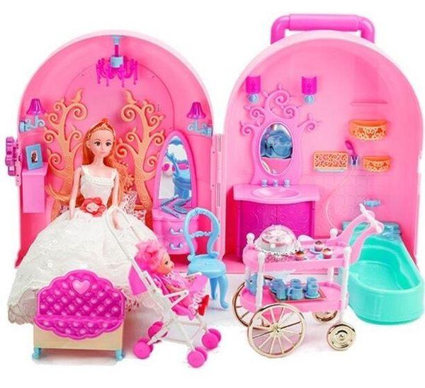 甜甜屋女孩過家家度假屋芭芘洋娃娃【藍星居家】